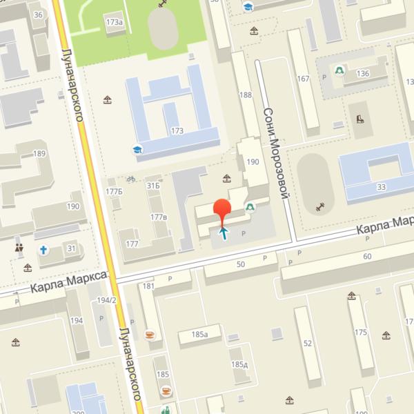 Адреса филиалов (Центр)